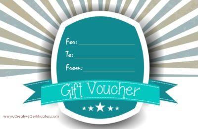 Free Birthday Vouchers ~ Free printable gift vouchers. instant download. no registration