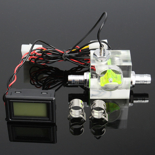Us 13 99 Water Liquid Cooling 4pin 3 Way Flow Meter With