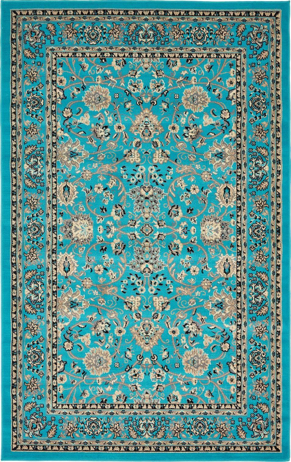 Turquoise 5 39 X 8 39 Kashan Design Rug Area Rugs
