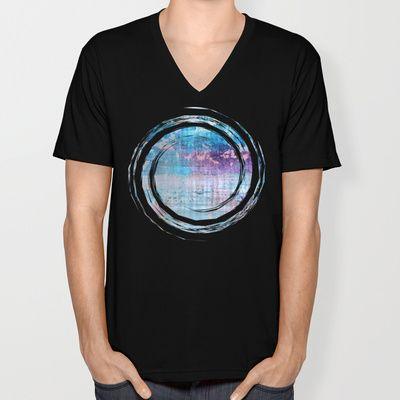 Les Aventures - JUSTART © V-neck T-shirt by JUSTART - $24.00  #justart #s6 #society6 #tshirt #vneck #design #blue #aqua #purple