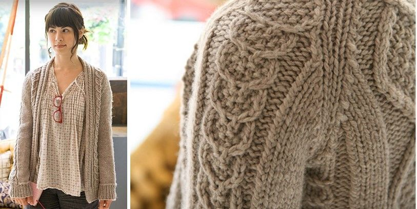 Cozy Aidez Knitted Cardigan Free Knitting Pattern Sweaters