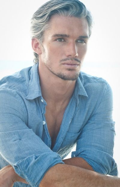 Young Man With Salt And Pepper Grey Hair Men Cool Hairstyles For Men Older Mens Hairstyles