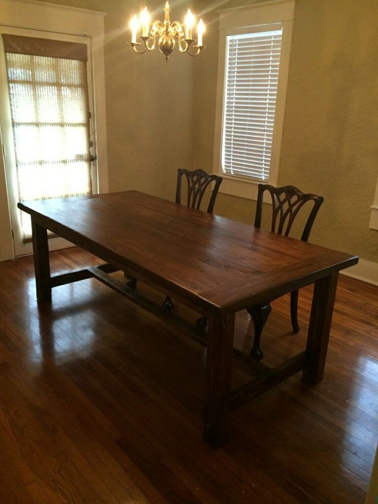 Custom In Tampa: Rustic Blueprint 7 Foot Farm Table Made From Reclaimed  Cypress (tabletop