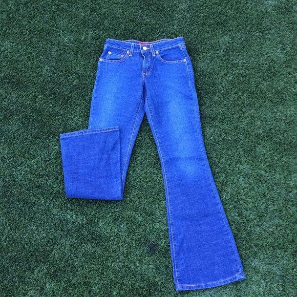 Levi's jeans Perfect condition. Barely worn. Rich blue. Inseam: 29, leg opening 8.5, waist: 13 inches. NO TRADESNO PAYPAL DISCOUNTS ON BUNDLES Levi's Jeans