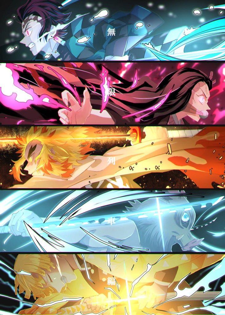 Photo of | Save & Follow | Tanjiro • Nezuko • Zenitsu • Inosuke • Kyojuro Rengoku • Demon Slayer