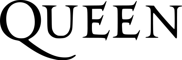 Queen Logo Black Transparent Queen Bordado Banda