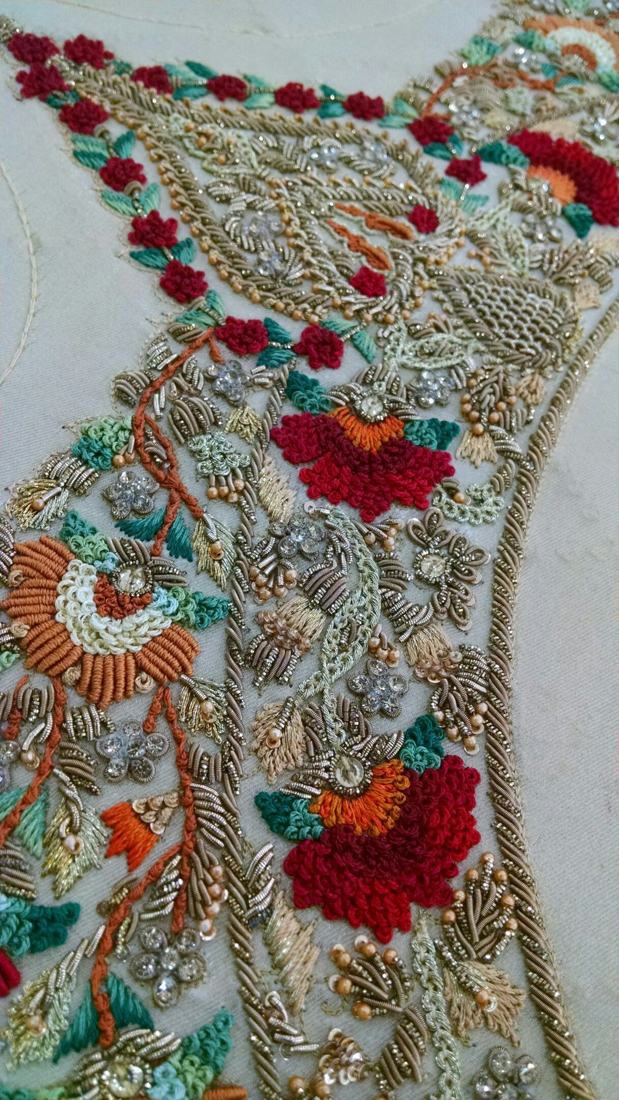 Zardozi work textile pinterest embroidery beads and