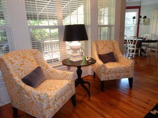 A Pair Of Hartwell Chairs With A Leah Table Set Between