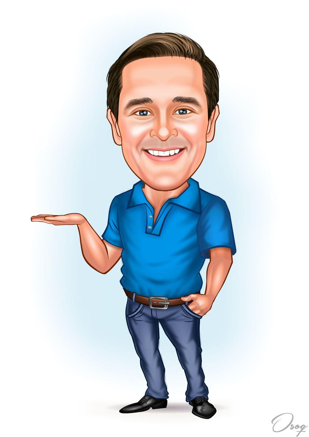 Man Caricature Portrait | -CARICATURE BY OSOQ ART | Pinterest ...