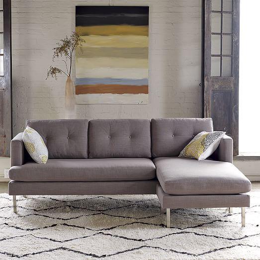 Jackson Sectional Marled Microfiber Heather Gray 1599 Sectional Sofas Living Room Sectional Sofa Sectional