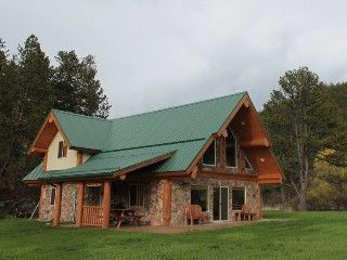 3 Bdrm Log Cabin Nestled in Beautiful Meadow on Spring Creek: Call For Rate InfoVacation Rental in Hill City from @HomeAway! #vacation #rental #travel #homeaway