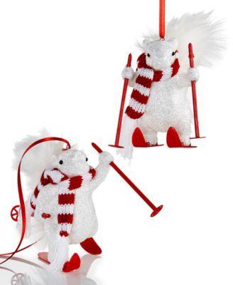 Holiday Lane Skiing Reindeer Stocking