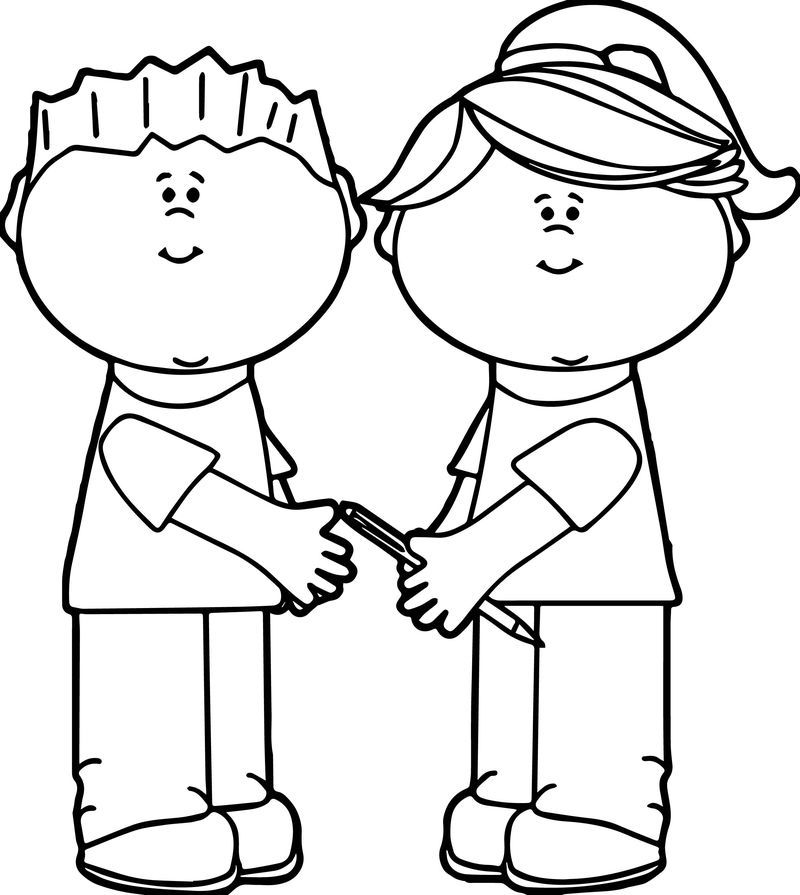 School Kids Sharing Kids Coloring Page Coloring Pages For Kids Dinosaur Coloring Pages Coloring For Kids
