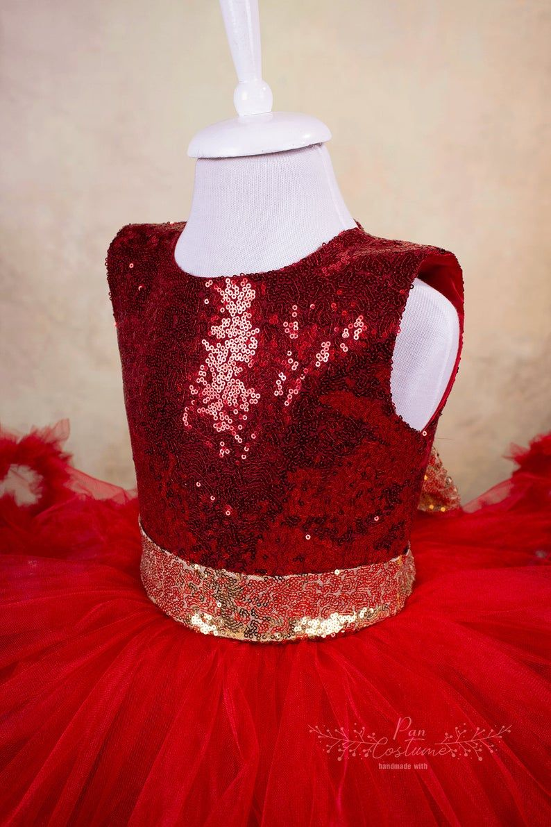 This Shiny Red Fluffy Tutu Dress Specially Designed For Birthday Party Or Pageant For Toddlers And Little Girls Is Sparkle Dress Holiday Party Dresses Dresses [ 1191 x 794 Pixel ]