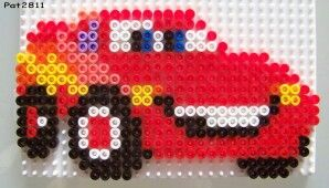 Perler Bead Car And Bus Bugelperlen Basteln Kinderbasteleien