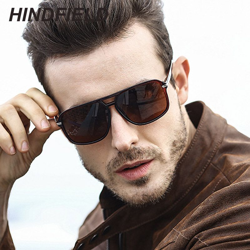 fca6e7f0c98 Luxury Polarized Sunglasses Men Flat Top Square Rays Sun Glasses Mens  Driving Shades Male Sports Fishing