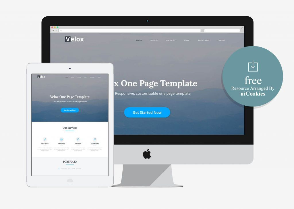 Velox one page free html template 100 best free html5 bootstrap looking best bootstrap templates for business firm corporate agency creative studio and multipurpose niches check this list of bootstrap templates flashek Images