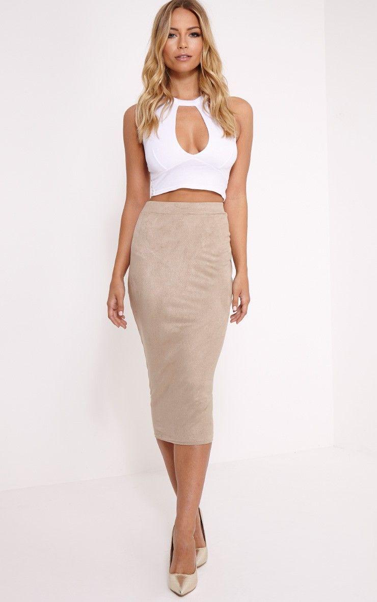 Amanda Stone Suede Midi Skirt Image 2 | Style | Pinterest | Stones ...