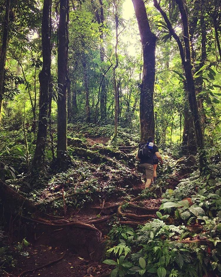 Hike through the rainforest to the emerald green waters of Cerro Chato Crater for a unique adventure!  Photo via @outdoor_suni! #CostaRicaExperts #Vacations #CostaRica