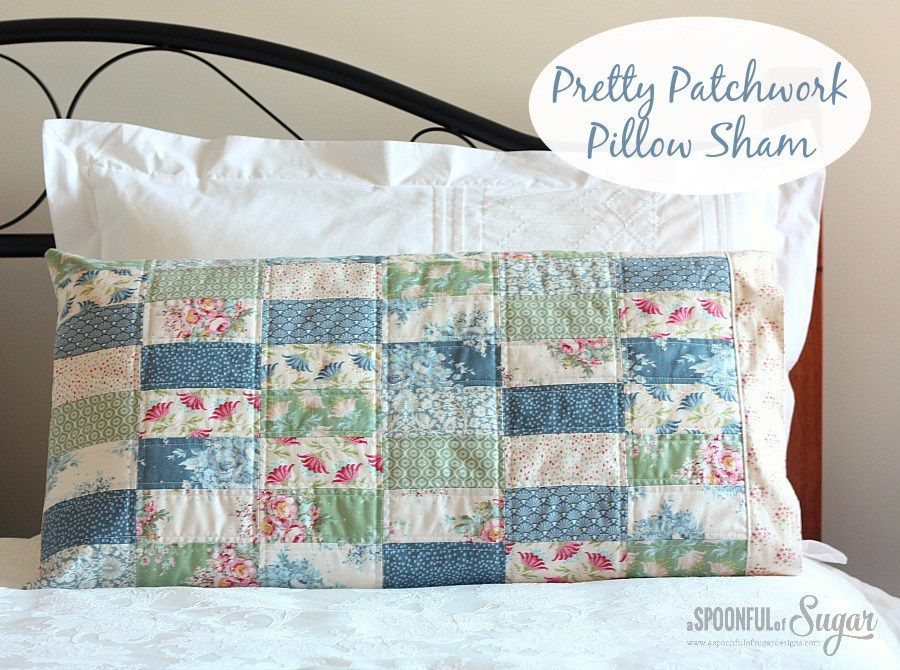 Tilda Sewing Projects - Pretty Patchwork Pillow Sham by A Spoonful of Sugar. Idea for my laundrybasketquilts BOM quilt & Tilda Sewing Projects - Pretty Patchwork Pillow Sham by A Spoonful ... pillowsntoast.com