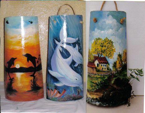 Telhas decoradas pesquisa google pintura em telha pinterest pintar tejidos and pintura - Pintar tejas de barro ...