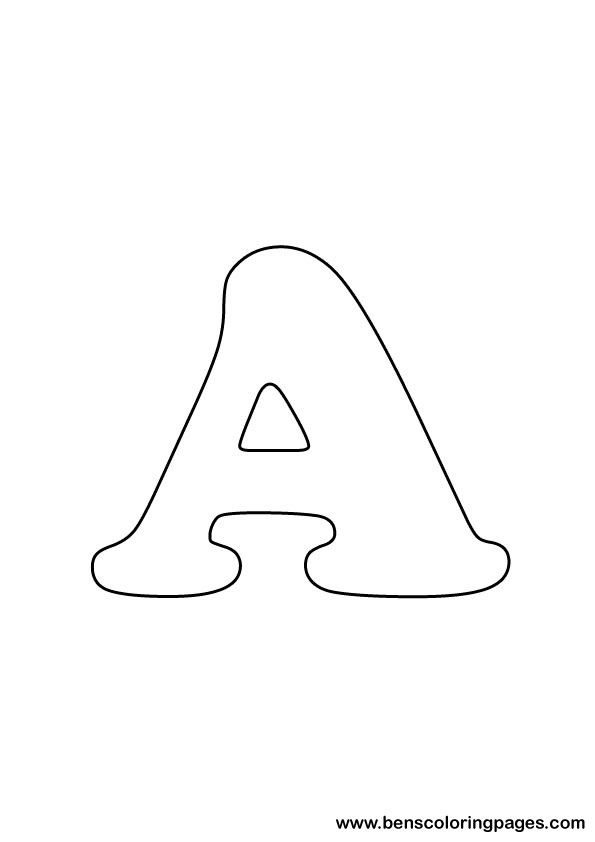 Free Letter A Coloring Page  Images To Print