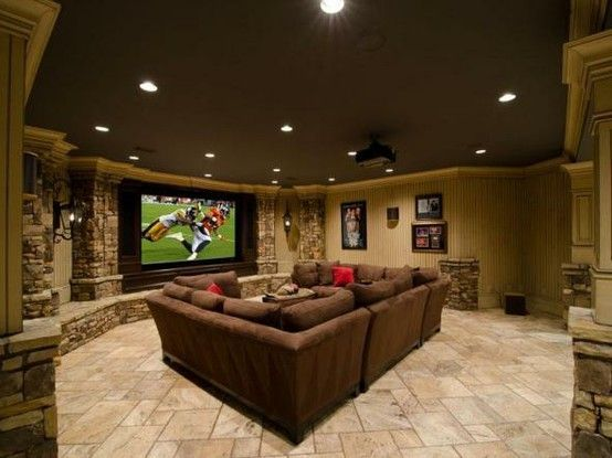 love this basement painting ceiling a dark color expands on smart man cave basement ideas id=58125