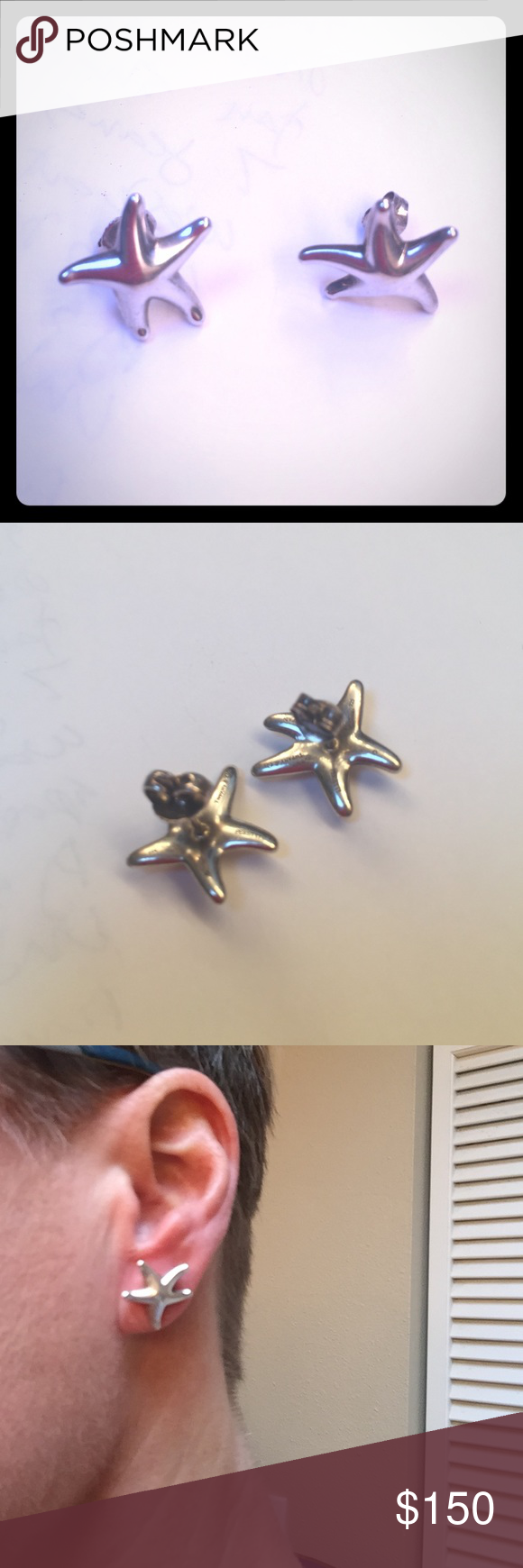 Paloma Picasso Tiffany silver earrings Silver Tiffany earrings from their Paloma Picasso collection Tiffany & Co. Jewelry Earrings