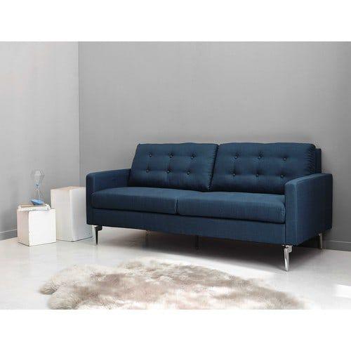 canap 2 3 places en tissu bleu nuit victor maisons du monde appartement sofa fabric sofa. Black Bedroom Furniture Sets. Home Design Ideas