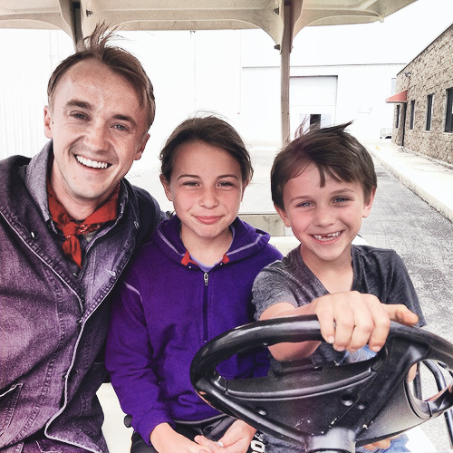 Tom Felton first picture on the set of Ghosts of the