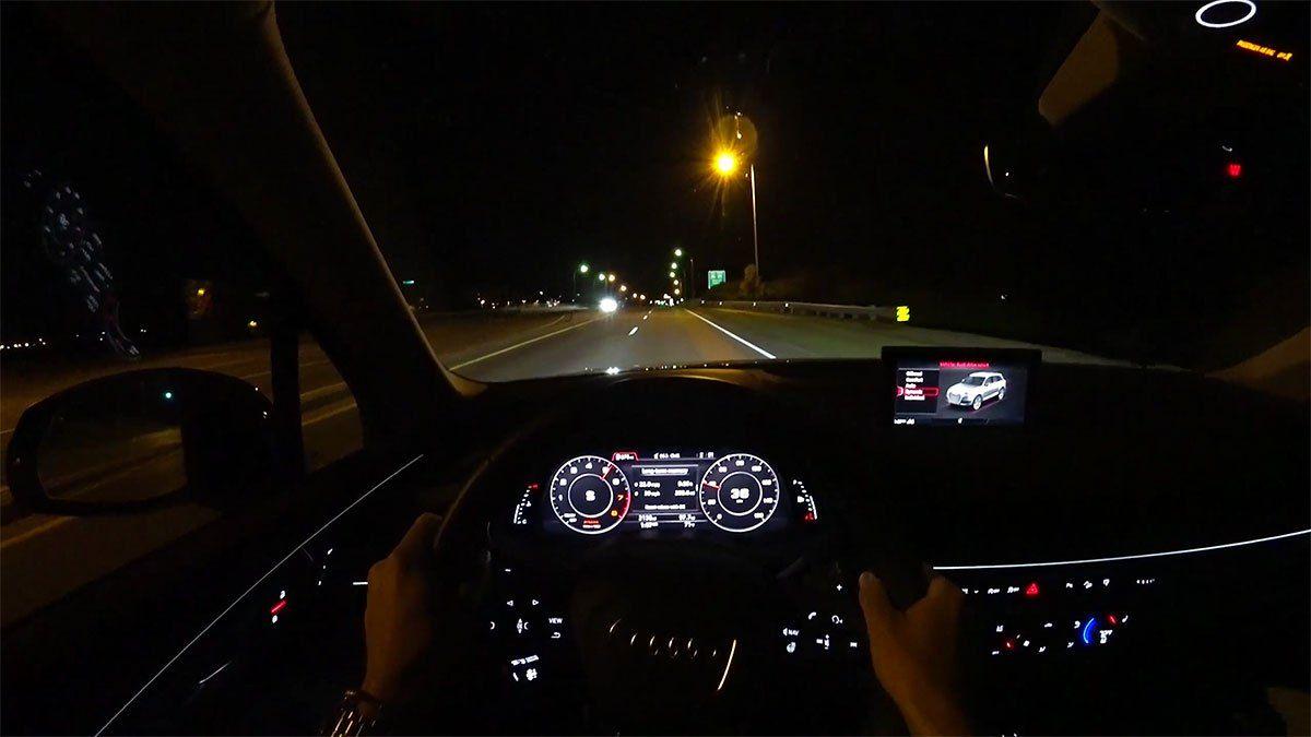 2017 Audi Q7 2 0t Premium Plus Pov Night Drive Night Driving Audi Q7 Audi Q7 Interior