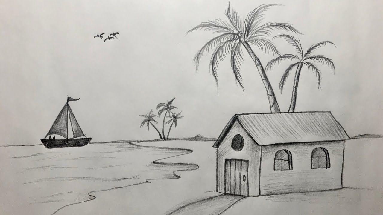 Karakalem Manzara Resmi Cizimi Nasil Yapilir Kara Kalem Cizim Teknigi Vincent Van Gogh Manzara Kaleler
