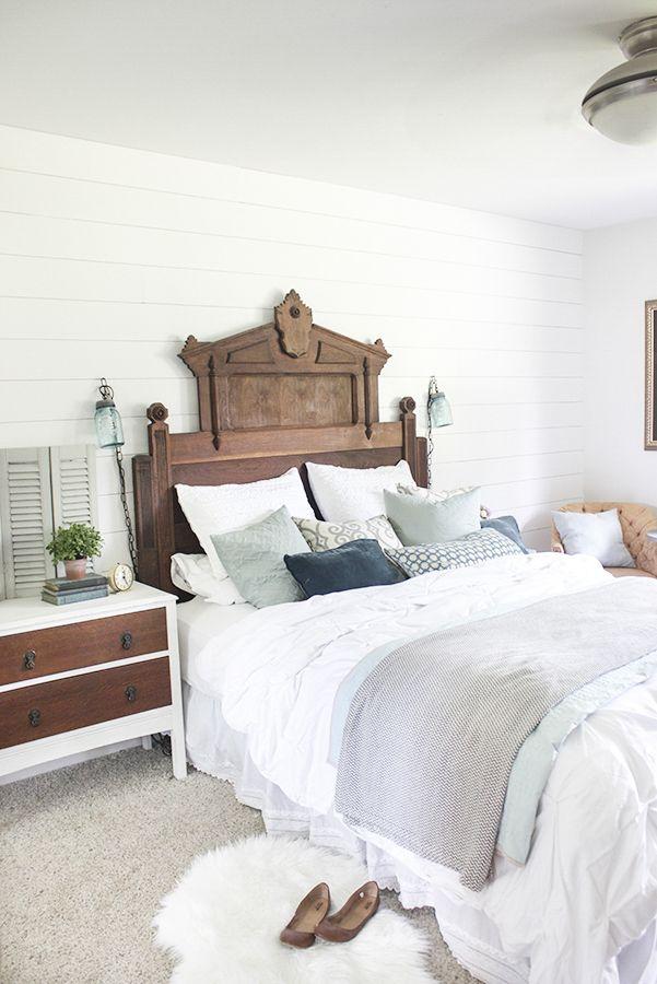 Best Rustic Eastlake Headboard In Master Bedroom Master 640 x 480