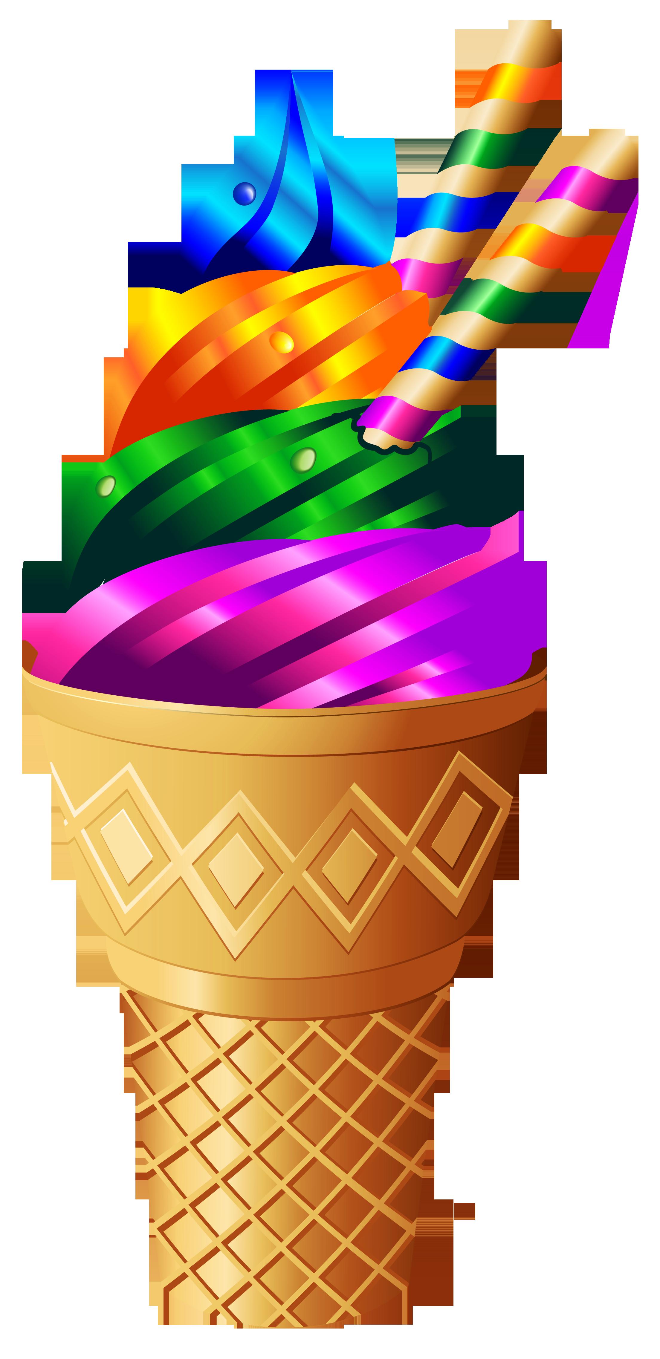 Transparent Rainbow Ice Cream Png Image Rainbow Ice Cream Ice Cream Art Ice Cream Clipart