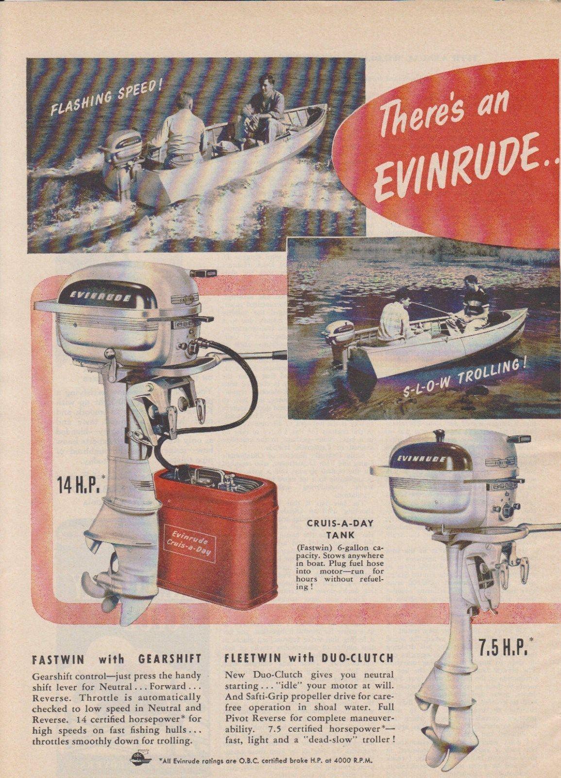 2-PAGE 1950 EVINRUDE