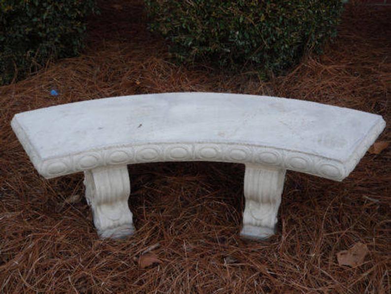 concrete bench patio bench park bench