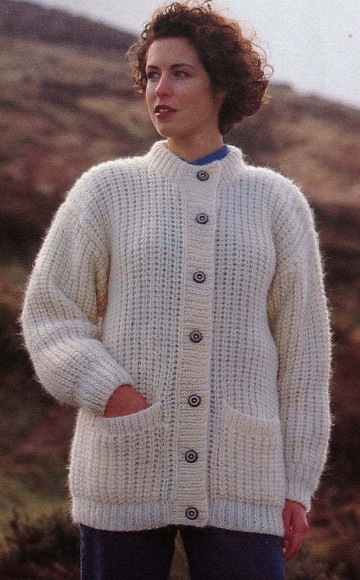 Knitting Pattern Girls/Ladies/Woman's Cardigan/Jacket Chunky ...