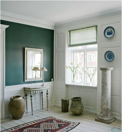 31++ Green walls white wainscoting trends
