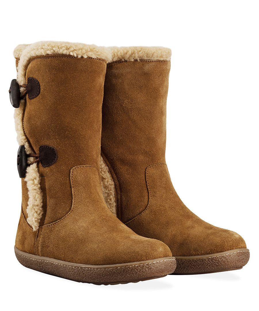 Chestnut suede sheepskin boots Sale Redfoot   Fur lined
