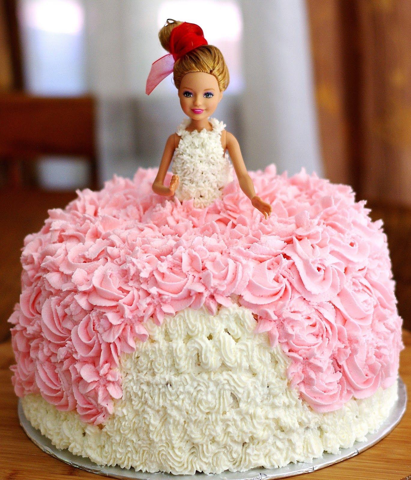 Barbie Birthday Cake With Images Doll Birthday Cake Barbie