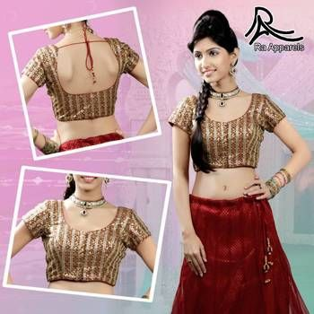 """Red Ready Made Padded Saree Blouse. """"Ra apparels"""" launched by MuHeNeRa Ra29"""