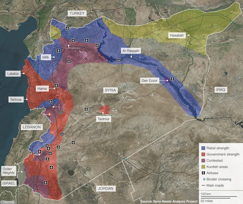 Syria Mapping The Conflict Syria - Syria interactive map