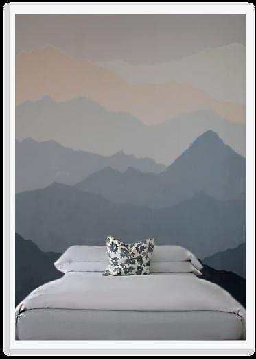 Diy Mountain Mural Mountain Mural Wall Murals Bedroom Wall Murals Diy