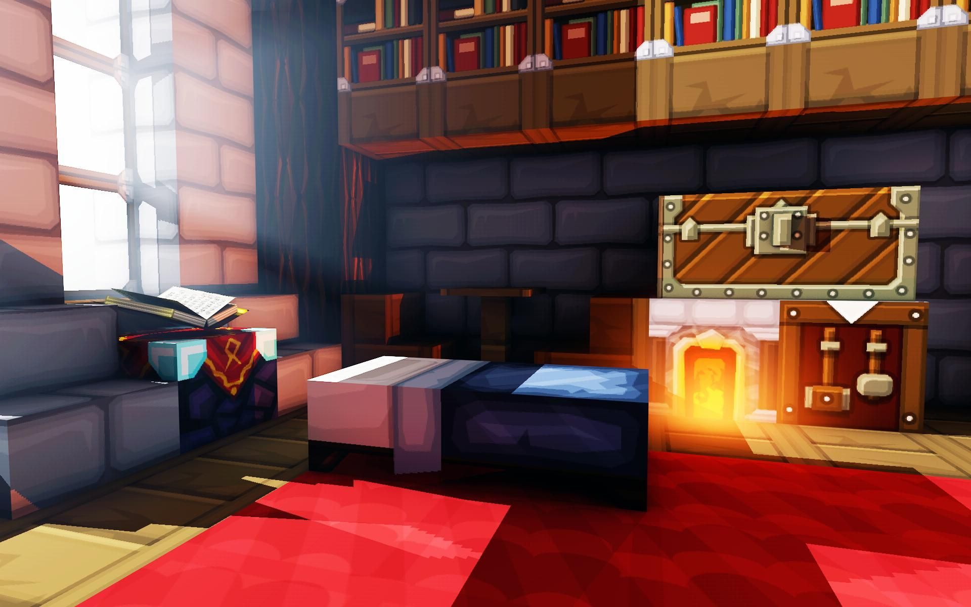 Living area from reddit (Tihspeed)   Minecraft it