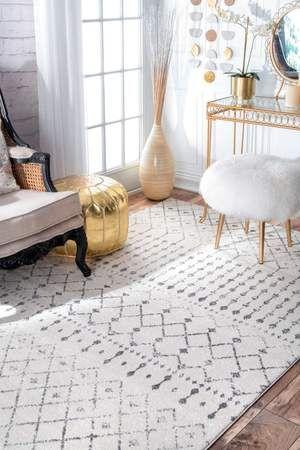 2019 的 Nuloom Grey Moroccan Blythe Rzbd16a Area Rug 主题