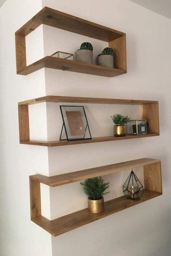 DIY woodworking plans and instructions – Hardwood corner shelves (DOCUMENTS ONLY)