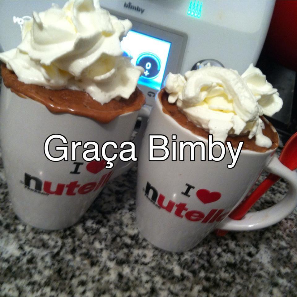 Bimby Truques & Dicas: Bolo de Nutella na caneca