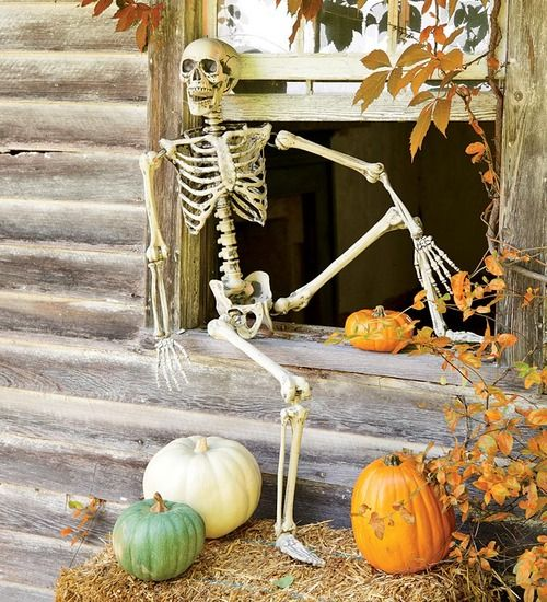 welcoming fall Halloween porch Pinterest Scarsdale diet - halloween fall decorating ideas