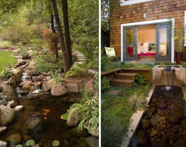 hinterhofgestaltung, oase der ruhe-im hinterhof-gestaltung-mit wasser-anlagen | garden, Design ideen