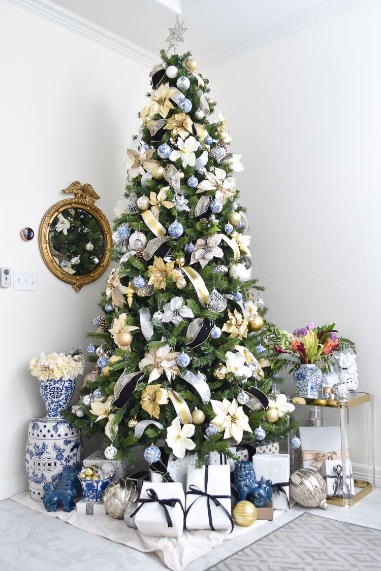 Chinoiserie Christmas Tree Decor Ideas Christmas Decor Ideas